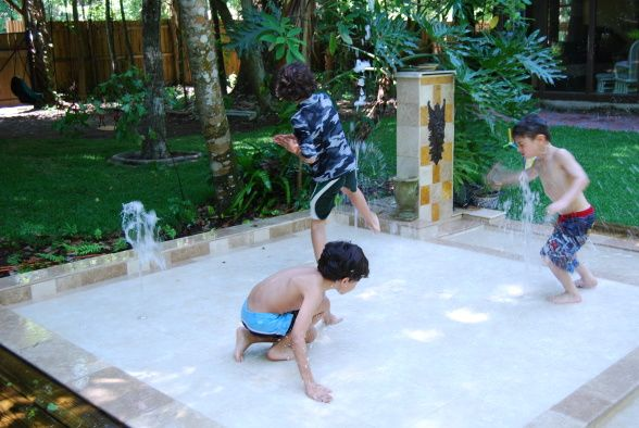 Cheap Playground Ideas | Our Backyard Water Park!, My husband and I wanted something unique and ...