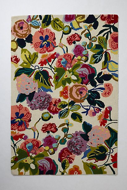 Gloria S Garden Rug Rectangle Anthropologie My Someday Bloomsbury Room