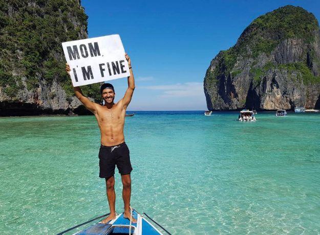 Deze wereldreiziger gebruikt Instagram om zijn bezorgde mama gerust te stellen