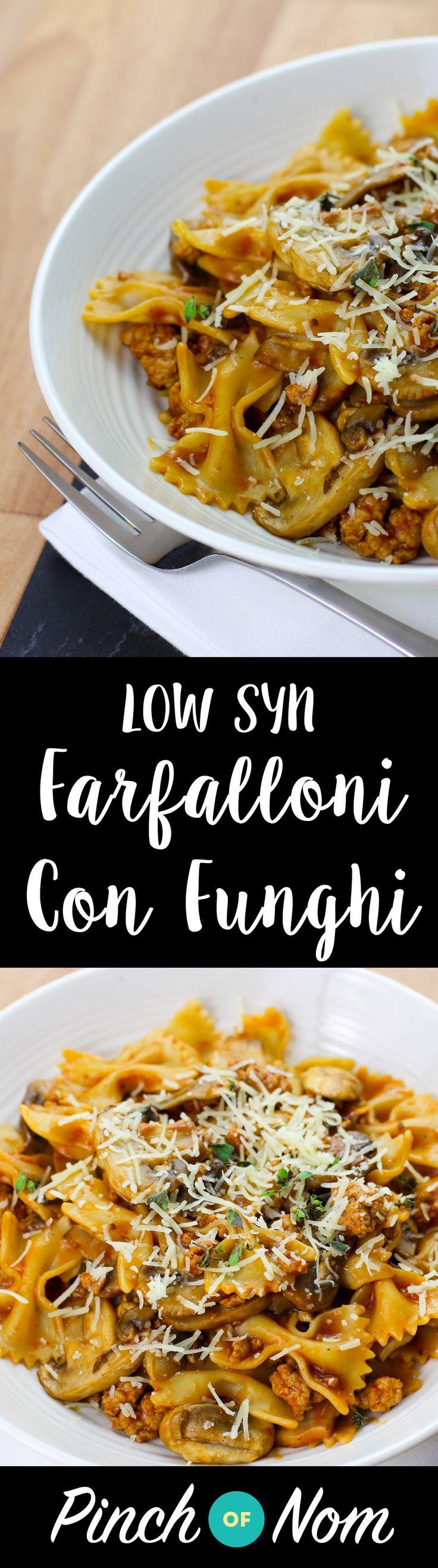 Low Syn Farfalloni Con Funghi | Slimming World