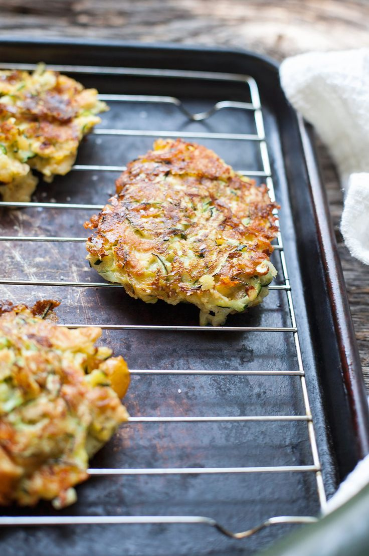 This is the best fried zucchini cake I've ever tried! You can make them and freeze them too.