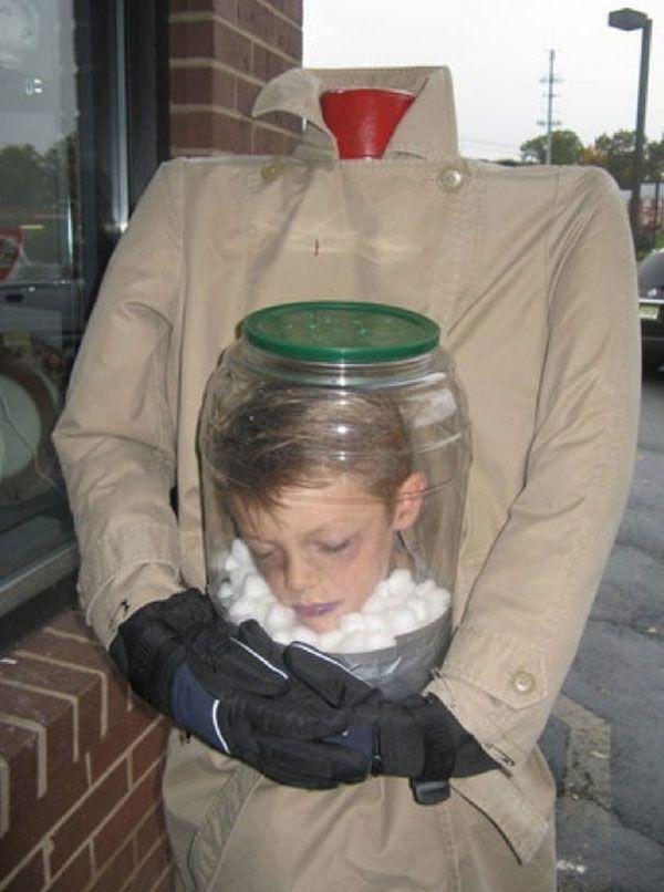Vestito di Halloween per bambini da uomo senza testa