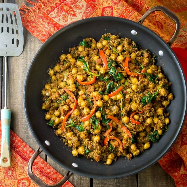 18 best meatless menu indian cuisine images on pinterest vegan indian quinoa and chickpea stir fry quinoa indian recipeshealthy food forumfinder Gallery