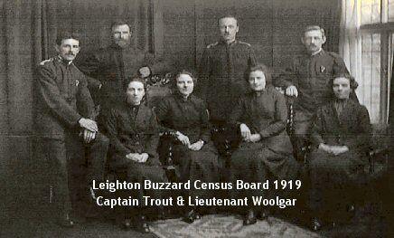 Leighton Buzzard Salvation Army - census board 1919