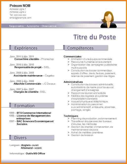 12 Modèle Cv Original Gratuit Word Format Lettre Cv Original