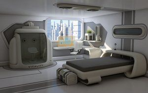 This is a bedroom at the back of a giant lab belonging to an introverted kid genius, Dex. Instead of going to prom, you can find her here or in her lab