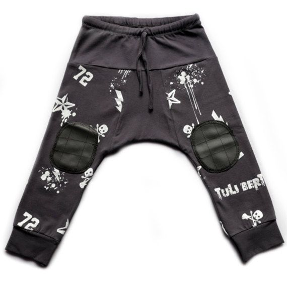 Baby harem pants - Cool todler harm pants - Boys harem pants - 72 Hipster Kids Pants - Punk op Etsy, 24,40 €