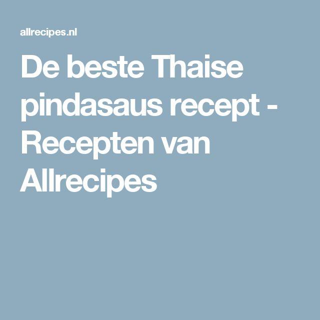 De beste Thaise pindasaus recept - Recepten van Allrecipes