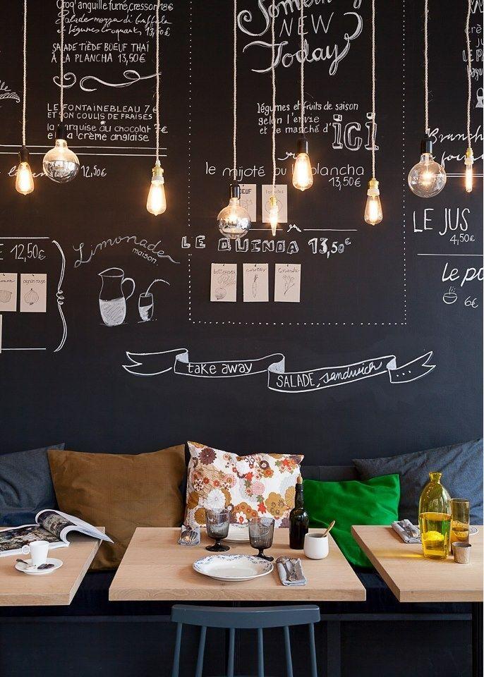 Menu pizarra>>>Chalkboard menu #BonAppétit