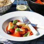 Torskegryte med tomat og oliven