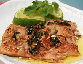 Redfish with Cilantro Lime Butter Sauce-Best fish recipe I have ever made...maybe ever had!