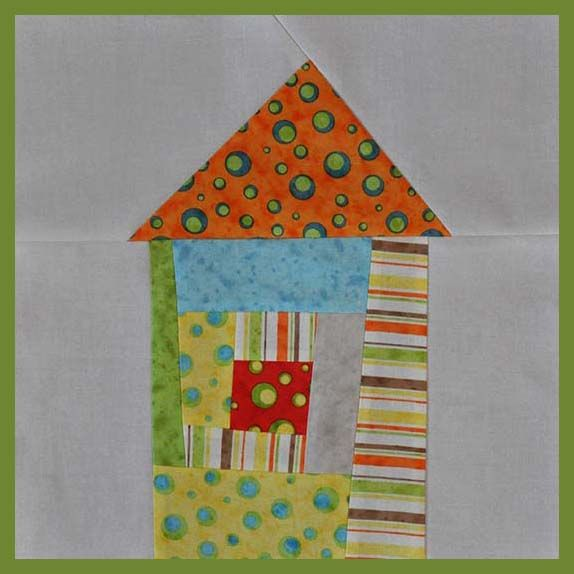 The Noble Wife: Wonky House Quilt Block Tutorial
