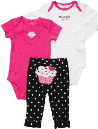 Amazon.com: Carter's 3-pc. Pink Cupcake Bodysuit Set: Clothing