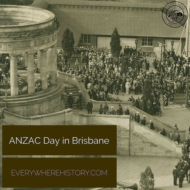 Did you know that ANZAC Day originated in Queensland? During the public meeting in the Exhibition Hall in January 1916 the Anzac Day Commemoration Committee was formed. During the 1920s Anzac Day became established as a national day of commemoration for the more than 60000 Australians who had died during the war.  #history #localhistory #brisbanehistory #brisbane #brisbaneanyday #BrisbaneHeritage #visitbrisbane #heritage #thisisqueensland #historical #culture #historyblogger #historyblog…