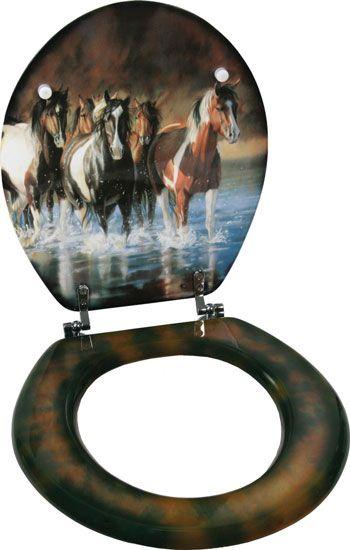 Rush Hour Horses Toilet Seat