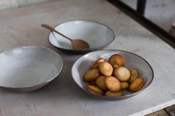 ceramic bowl,Soup Bowl,Stoneware Bowl,Ceramic Salad bowl,Serving Bowl,White And…