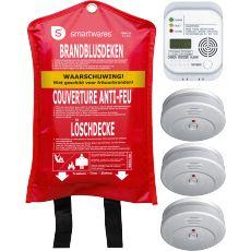Smartwares Brand veiligheidsset BBS15|gevarenmelders|alarmeren|huis automatisering|wonen - Vivolanda