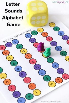 This letter sounds alphabet board game is a really fun way for preschool and kindergarten students to learn letters and letter sounds! via @danielledb