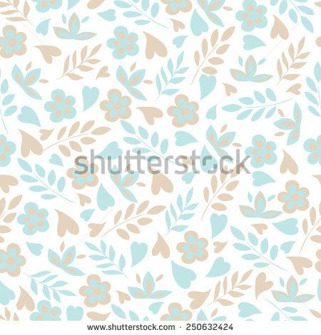 Seamless floral pattern with heart