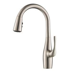 Kraus Esina Stainless Steel  Handle Deck Mount Pull Down Kitchen Faucet