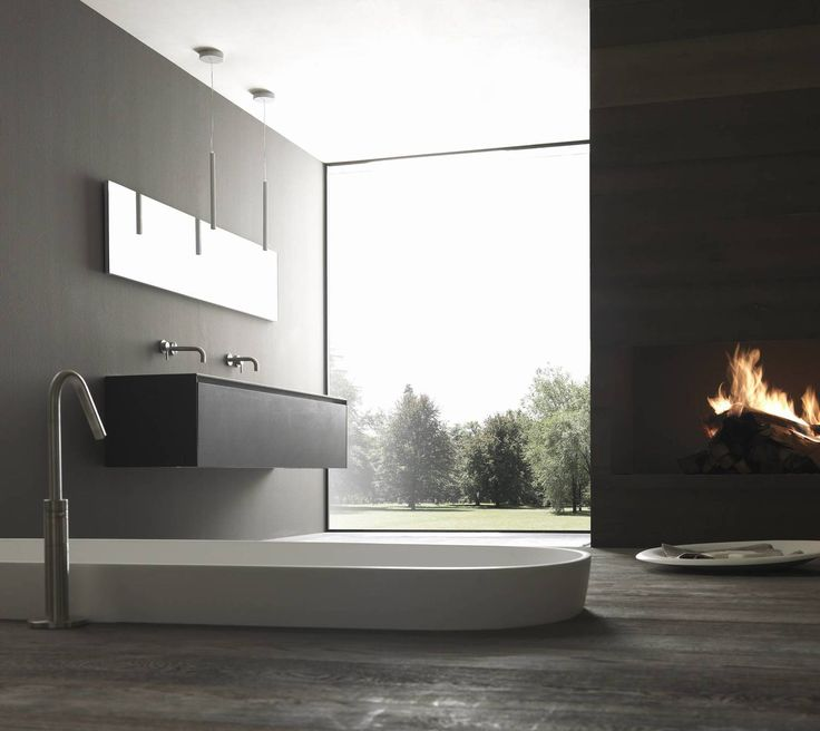 'Blade' bath range in Porcelain ... pure bathroom luxury.  Exclusively available in Australia & NZ through the all new Modulnova Sydney Studio. A stunning range of design options are available – link in bio.