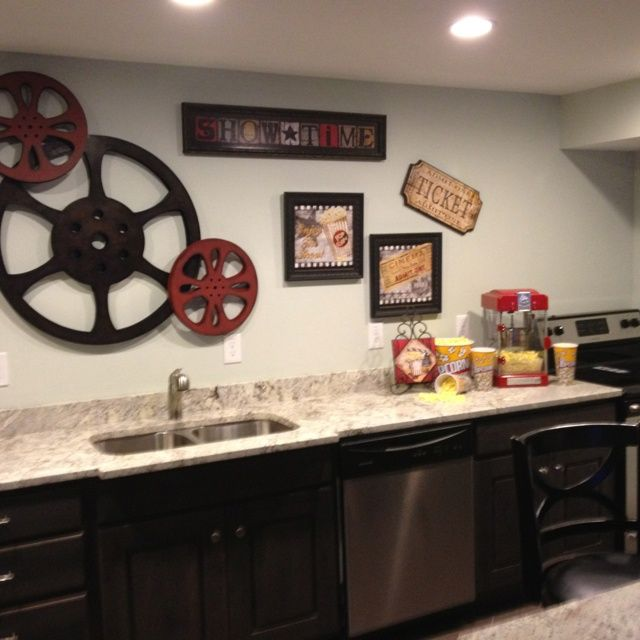 Best 25 theater room decor ideas on pinterest media for Kitchen colors with white cabinets with movie theater wall art