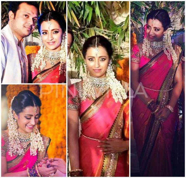 Trisha Krishnan gets engaged wearing Neeta Lulla