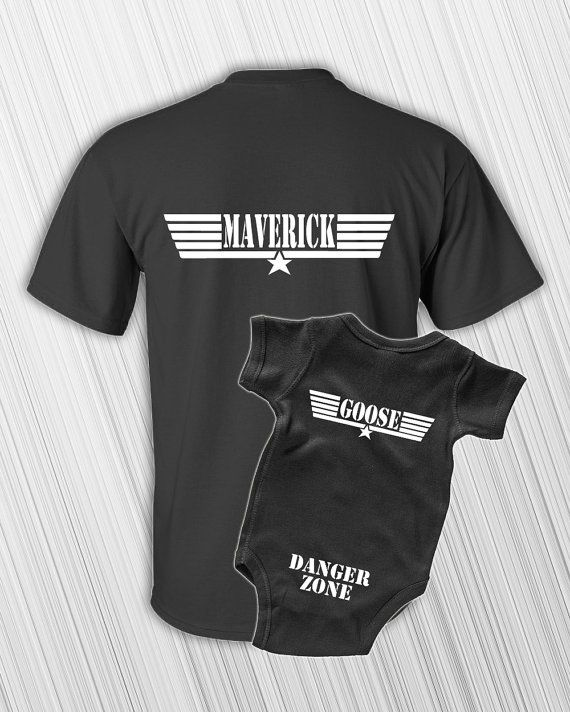 Father Son Matching Shirts  Maverick And Goose  New Baby