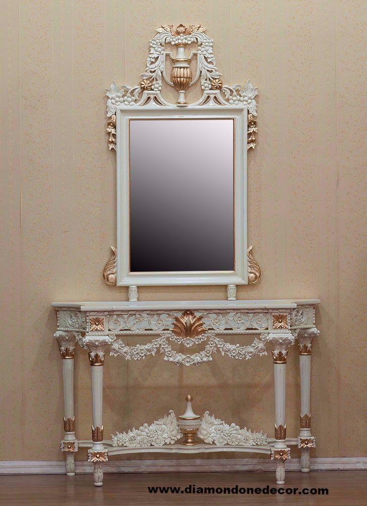Fabulous Baroque Louis Xvi Style Hand Carved Mahogany