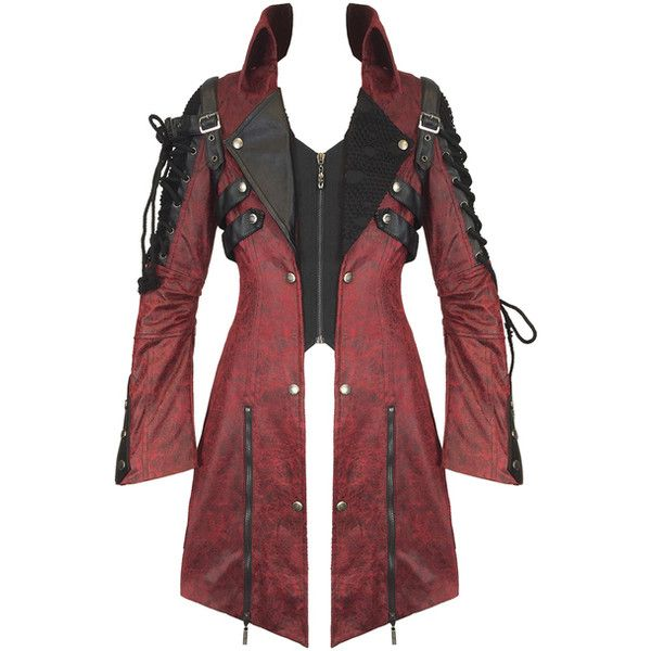 PUNK RAVE WOMENS POISONBLACK JACKET RED Violent Delights ($135) ❤ liked on Polyvore featuring outerwear, jackets, punk gothic jacket, punk rock jacket, mesh jacket, punk jacket and steampunk jacket