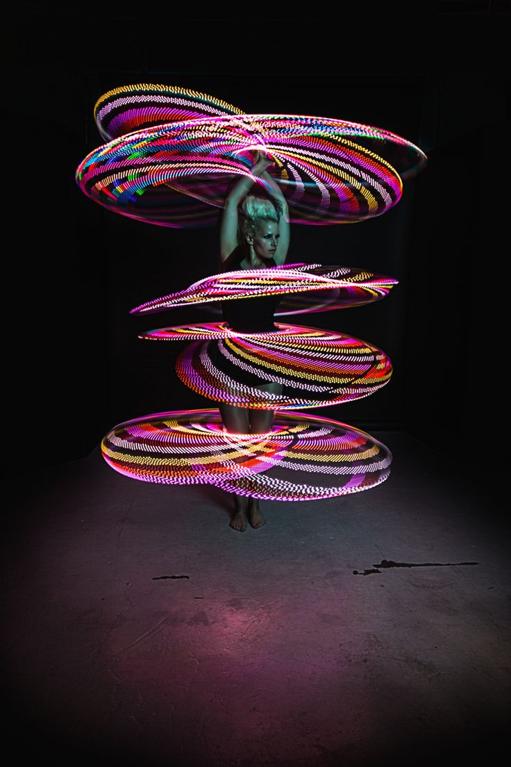Spinning Multiple LED Hoops with Lisa Lottie | hooping.org