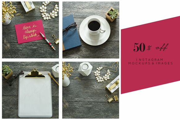 50% off Bundle | Pink & Gold Stock by TwigyPosts on @creativemarket