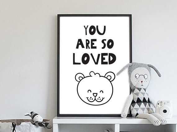 You Are So Loved | » Zwart Wit | Postersinhuis.nl
