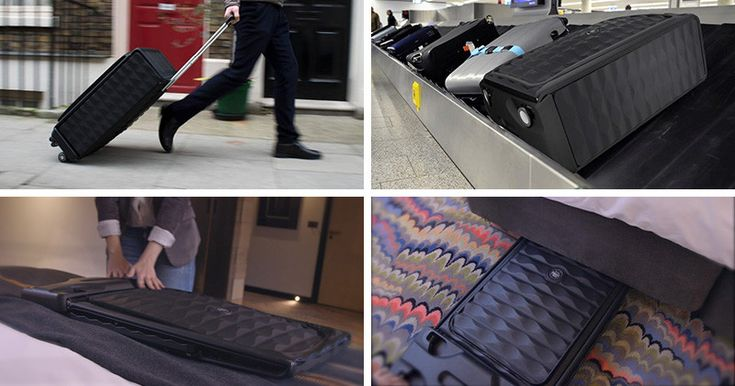 This New Suitcase Design Claims To Be The World's First Smart, Collapsible, Hard Case Luggage - http://www.difthehome.com/this-new-suitcase-design-claims-to-be-the-worlds-first-smart-collapsible-hard-case-luggage