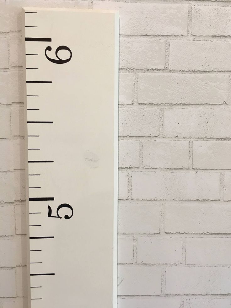 sale growth chart ruler farmhouse white wood home decor family keepsake gift