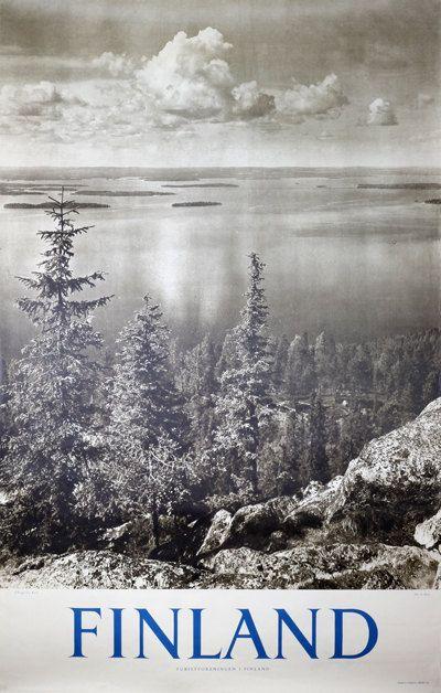Finland  Koli National Park  Original vintage travel by PosterTeam