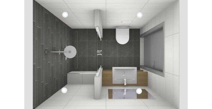 Kleine badkamer met moza ek tegels van wanrooij bathroom pinterest van and met - Badkamer retro chic ...