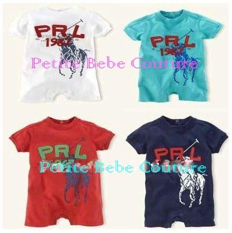 PbC- Boys Polo inspired Rompers     www.petitebebecouturepage.aradium.com