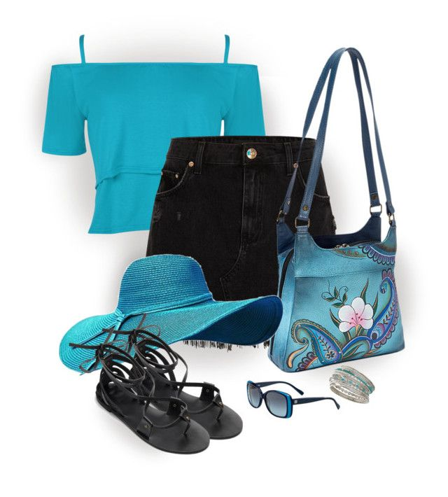 """Painted Handbag - casual"" by lorrainekeenan on Polyvore featuring Miss Selfridge, WearAll, River Island, Anuschka and BOSS Orange"