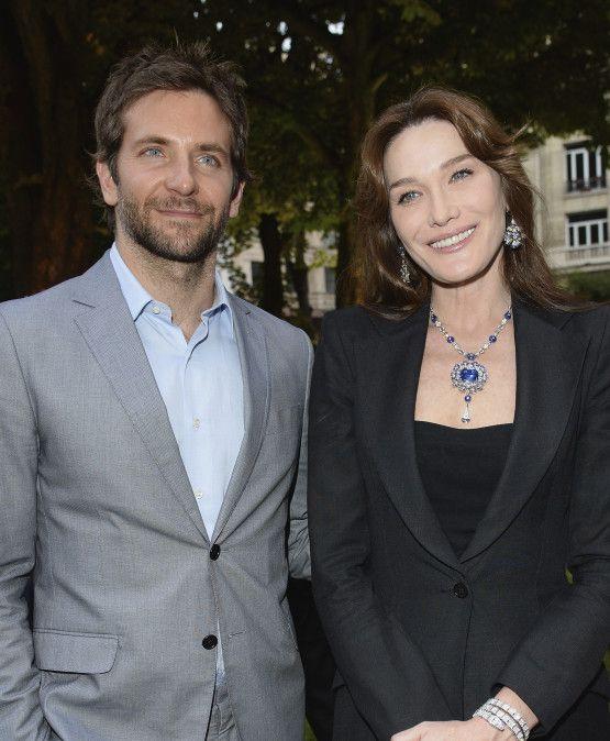 Carla Bruni and Bradley Cooper à la soirée Bulgari | DailyELLE