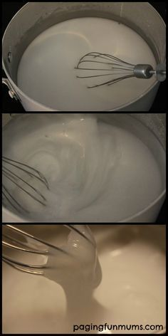 Glue pour papier macher 1 tasse de maïzena ou fécule de maïs 1 cuillère à soupe de vinaigre blanc 2 cuillères à café de sel 4 tasses d'eau chaude. OD- Placez tous les ingrédients dans une casserole moyenne et bien mélanger avec un fouet (il doit être sans grumeaux). Mettez la poêle sur feu vif et porter le mélange à ébullition. Vous remarquerez que le mélange commence à épaissir et tourne au translucide quelques minutes d'ébullition. Une fois que le mélange est translucide vous pouvez ...