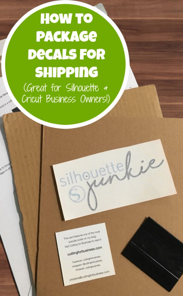 How to Package Decals in Your Silhouette Cameo or Cricut Business - by cuttingforbusiness.com