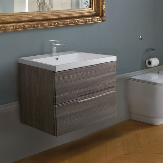 Vermont 600 Basin And Grey Avola Wall Mounted Vanity Unit Bathstore Toilet Pinterest