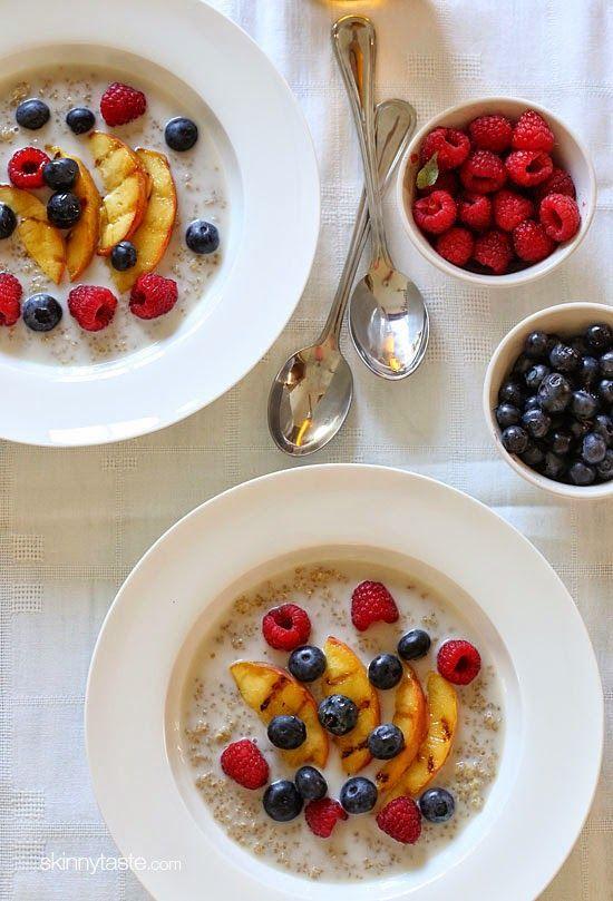 Summer Breakfast Quinoa Bowls   Skinnytaste