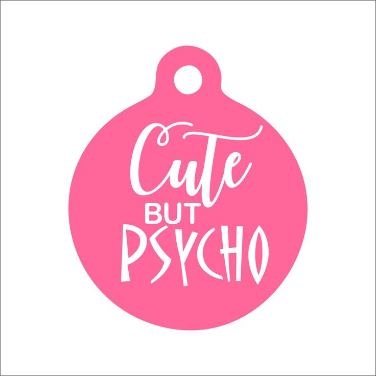 Cute but Psycho Dog Tag - Personalized Engraved Pet Tag - Funny Pet Tag by BlackDogEngraving on Etsy