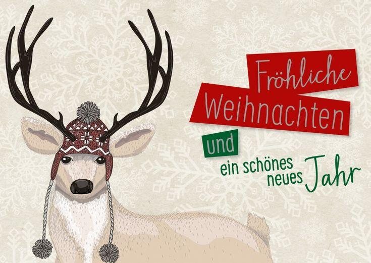 Fröhliche Weihnachten & ein schönes neues Jahr vom Rentier   Frohe…