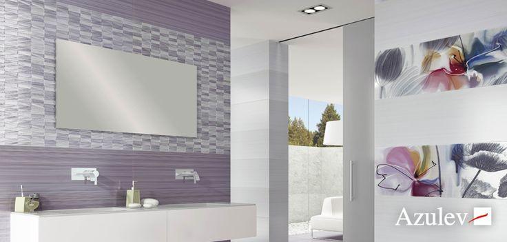 A través del color lavanda, conseguirás un aspecto sutil y equilibrado en la decoración de tu cuarto de baño. Por su versatilidad, este color combina bien con otros tonos, como el beige o el blanco. ¡Elegante y muy luminoso!  #diseño #interiorismo #baño
