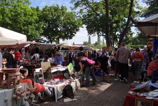 BERLIN - Prenzlauer Berg, Mauerpark flea market - every sunday, near U2-Station Eberswalder Strasse
