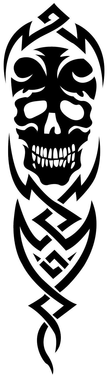 Tribal Skull Tattoo Sleeve: 29 Best Tribal Skull Sleeve Tattoo For Men Images On