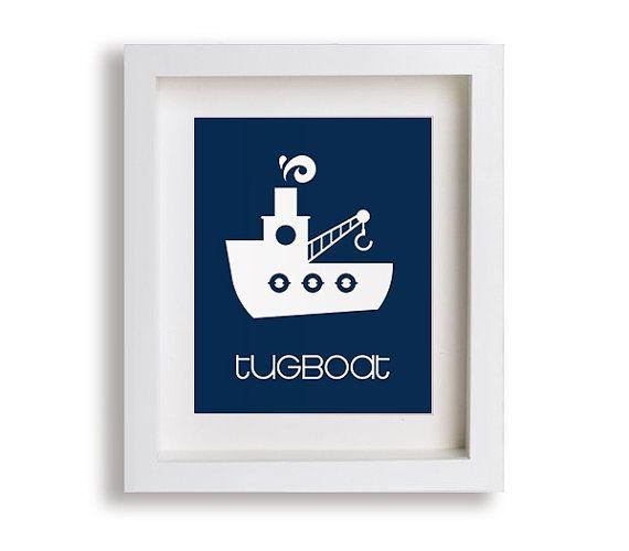Holownik niemowląt Reprodukcja - Nautical Przedszkole Decor, Nowoczesny Przedszkole Art, Pokój dziecka, dla dzieci Sypialnia, Małe dziecko, chłopak, dziewczyna, grafika, Bawialnia